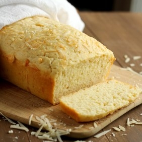Quick Parmesan and Cheddar Cheese Bread | gatherforbread.com