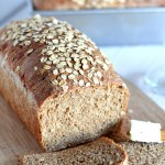 Whole Wheat Sandwich Bread with Oats