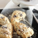Coconut Chocolate Chunk Scones {Made with Coconut Oil}