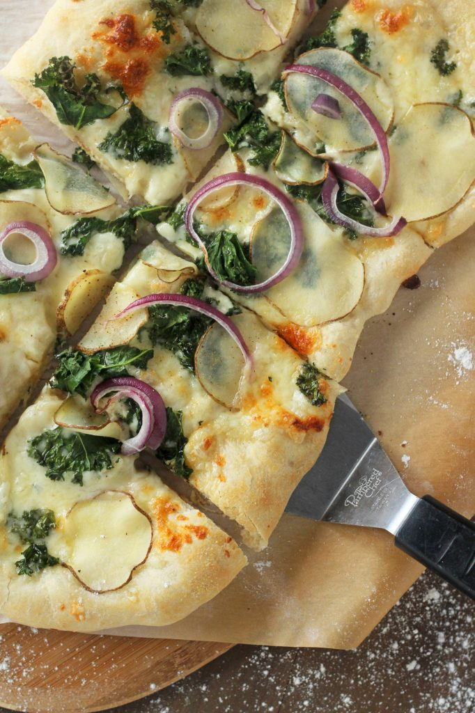 Potato, Kale & Garlic Pizza