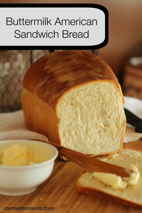 Buttermilk American Sandwich Bread -  Homemade American Sandwich bread made with real fresh ingredients like buttermilk, honey and flour. This made from scratch dough makes a perfect slice for sandwiches and toast.