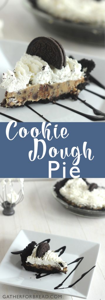 Cookie Dough Pie - Delicious, creamy, made from scratch pie.