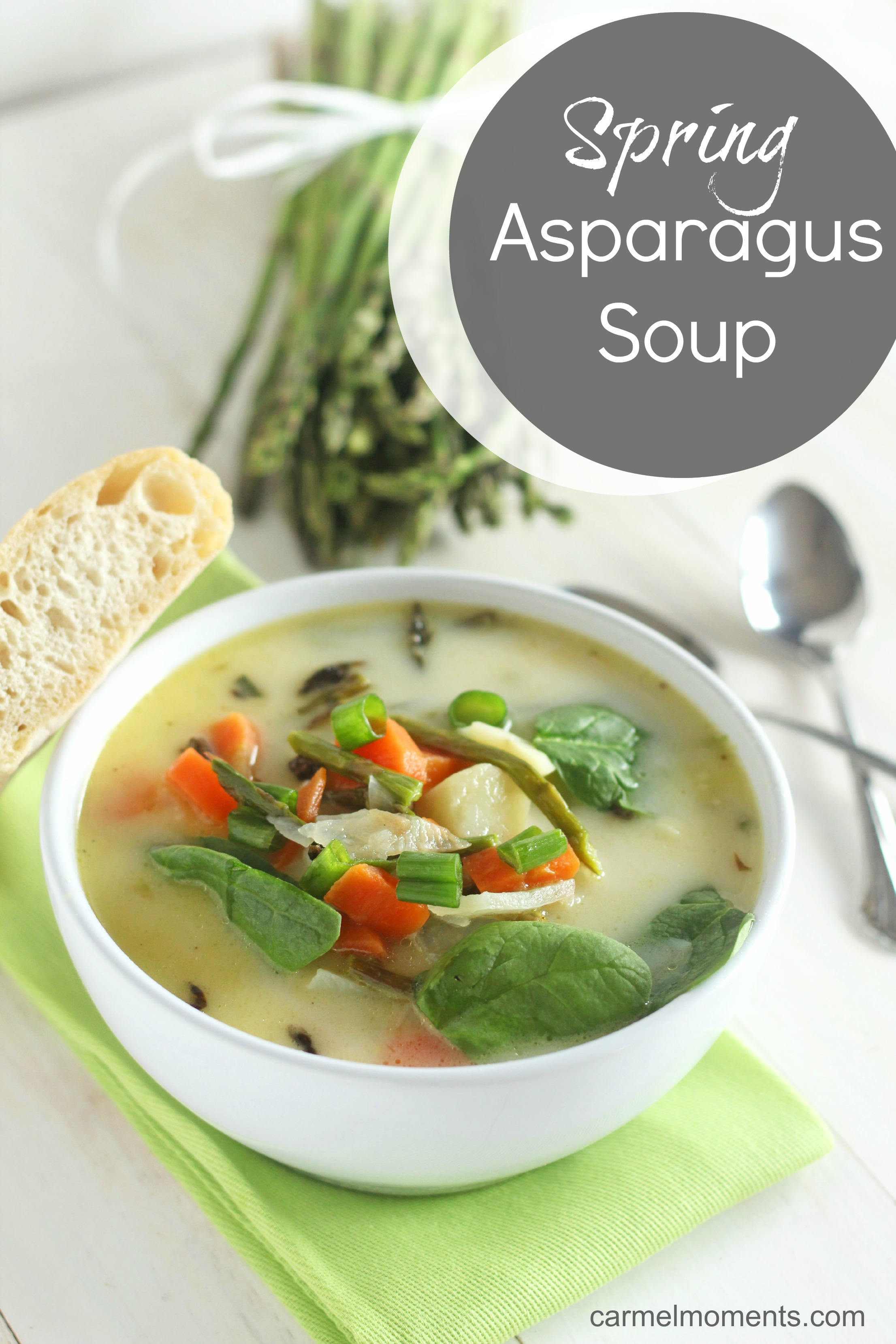Asparagus cream soup with shrimps, quick recipe 74