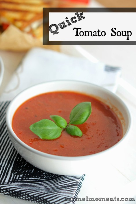 Quick and Easy Tomato Soup - On the table in 20 minutes.