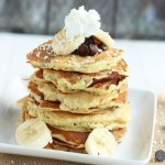 Banana Coconut Chocolate Chip Pancakes