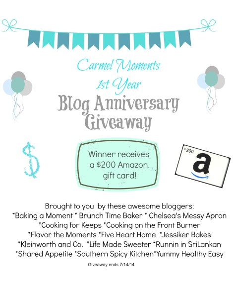 Carmel Moments Blog Anniversary Giveaway