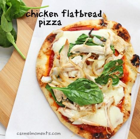 Chicken and Mozzarella Flatbread Pizza