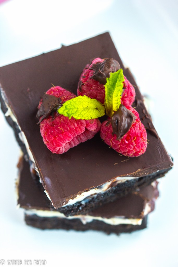 Chocolate Raspberry Brownies - Chocolate brownies layered with cream filling raspberry jam and topped with semisweet chocolate. Delicious bars are the best with a cream cheese layer and delicious raspberry jam.