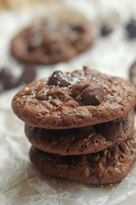 Chocolate Truffle Cookies with Sea salt | Carmel Moments
