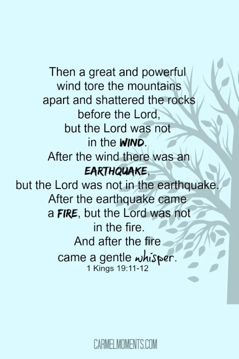 1 Kings 19:11-12