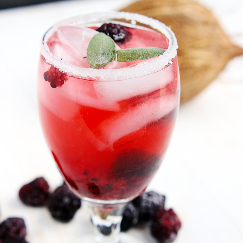 Blackberry Coconut Spritzer