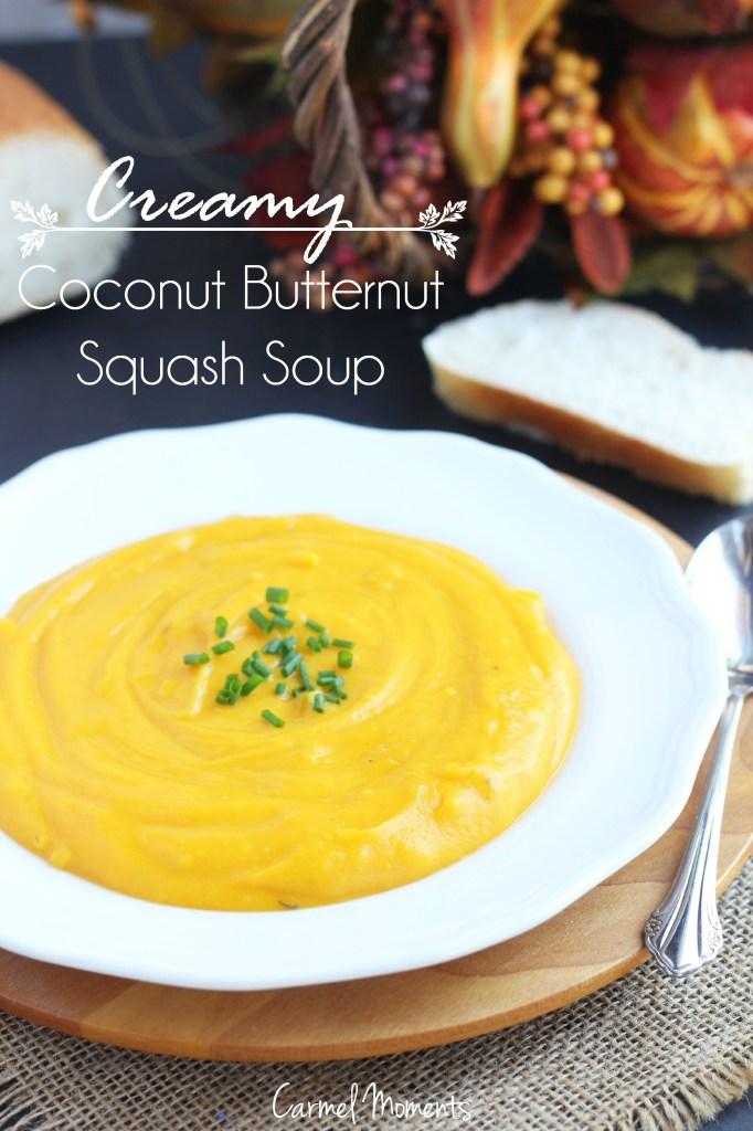 Creamy Coconut Butternut Squash Soup // @gatherforbread