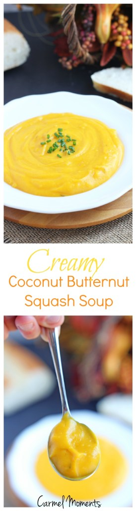 Creamy Coconut Butternut Squash Soup | @gatherforbread
