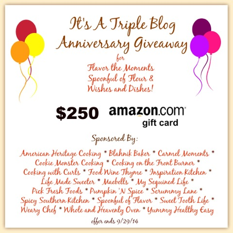 Triple Blog Anniversary Giveaway