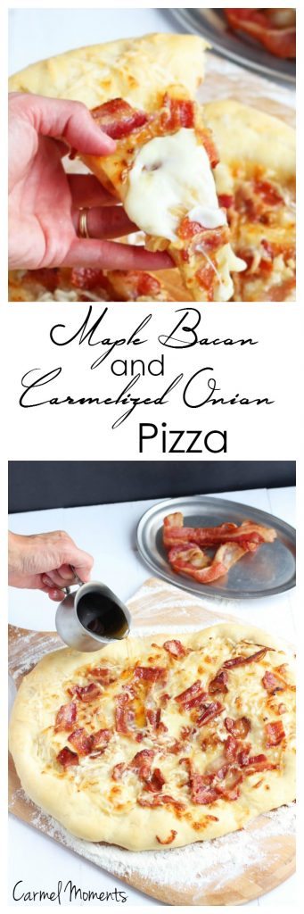 Maple Bacon and Carmelized Onion Pizza