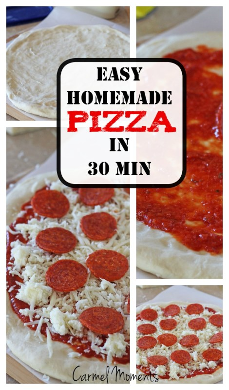 Easy 30 Minute Homemade Pizza | Quick easy pizza straight from your kitchen | gatherforbread.com
