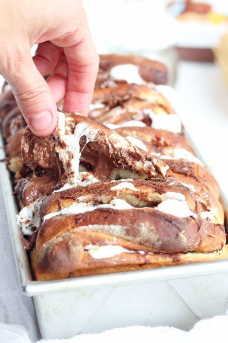 Pull Apart Smores Bread
