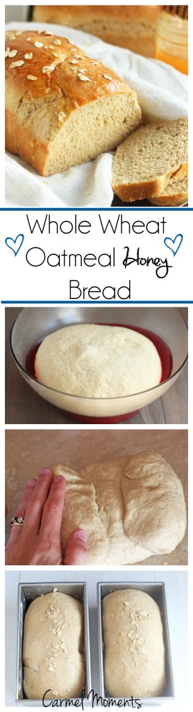Whole Wheat Oatmeal Honey Bread --Perfect for sandwiches, toast or buttered up and served with our favorite meal. | gatherforbread.com