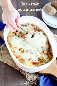 Cheesy Potato Sausage Casserole