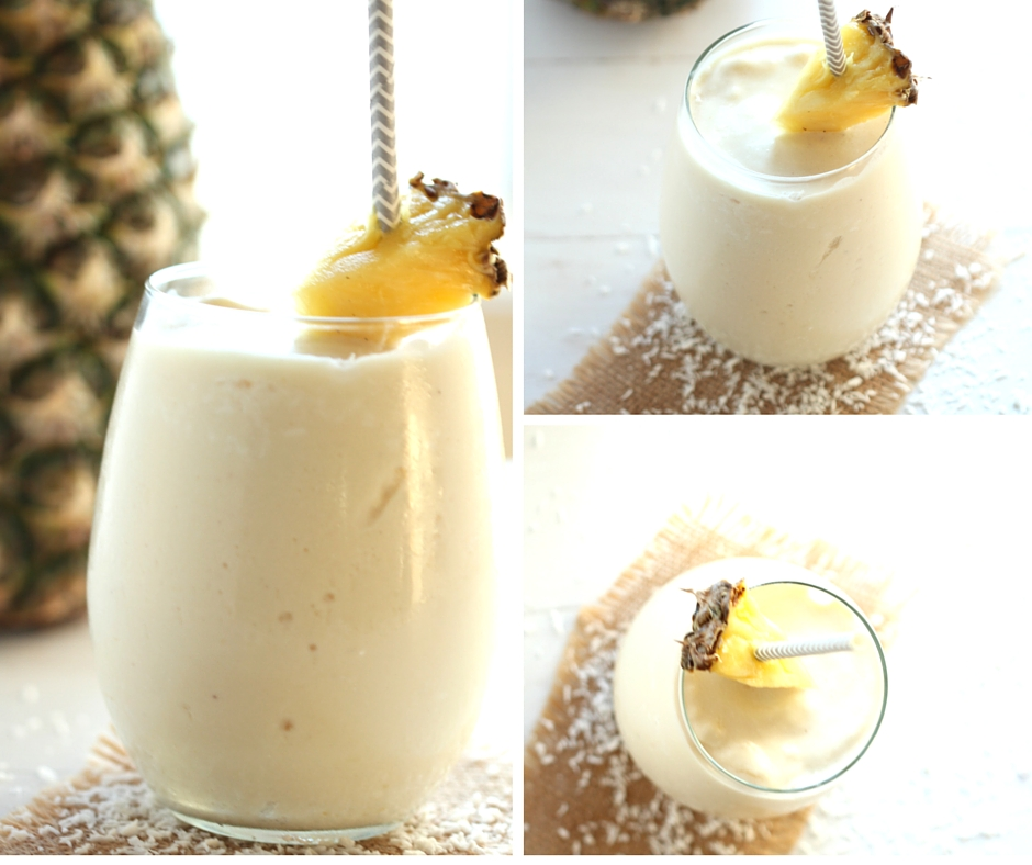 Pineapple Coconut Smoothie - Fresh, fruity, perfect for on the go! | gatherforbread.com