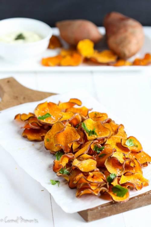 Baked Sweet Potato Chips-6