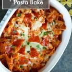 Easy Cheesy Pepperoni Pasta Bake