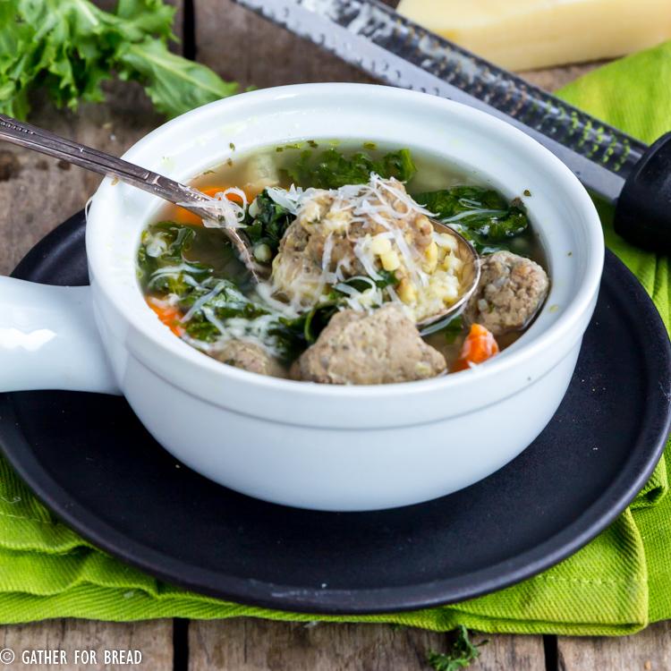 Easy Italian Wedding Soup: Slow Cooker Italian Wedding Soup