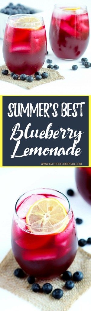 Blueberry Lemonade - Refreshing blend using fresh blueberries, real lemons and sugar. This easy homemade recipe is the perfect summer drink to cool you down.