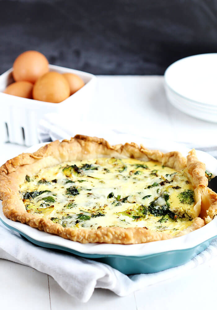 pinach and Broccoli Quiche