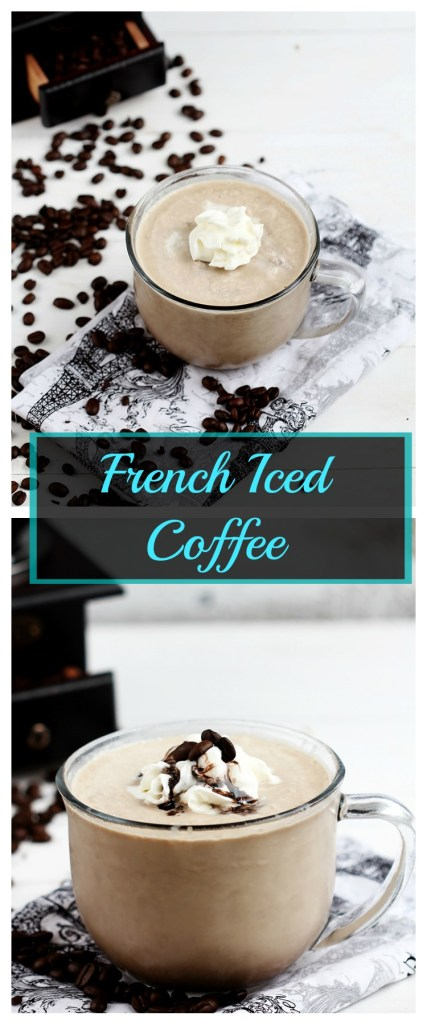 French Iced Coffee Refreshing roasted coffee, made smooth with milk, cream, sugar and a hint of chocolate. Cold, perfect and icy for those nice summer days.