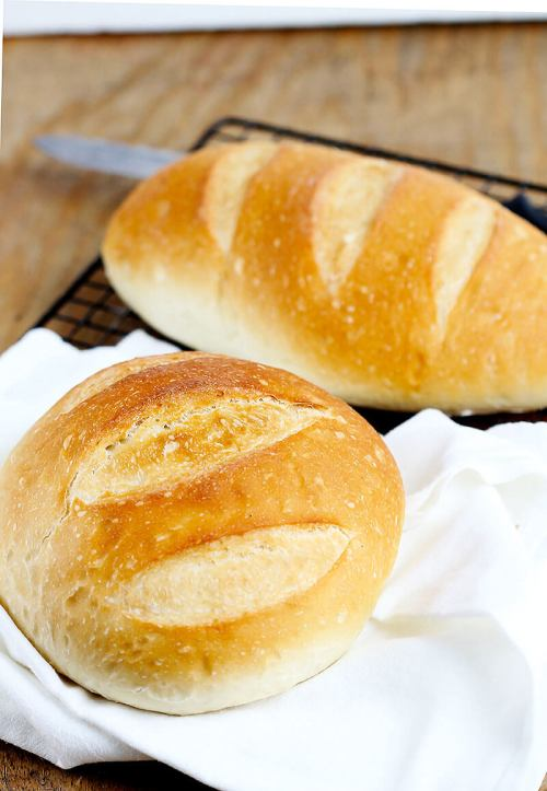Easiest Perfect Yeast Bread - Simple no fail yeast bread makes 2 delicious artisan loaves. So easy you'll make this recipe often. Perfect versatile loaf for dinner, sandwiches and more!