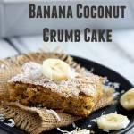 Simple Banana Coconut Crumb Cake