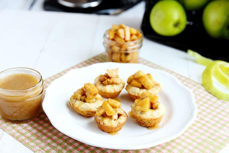 Caramel Apple Sugar Cookie Cups // @gatherforbread