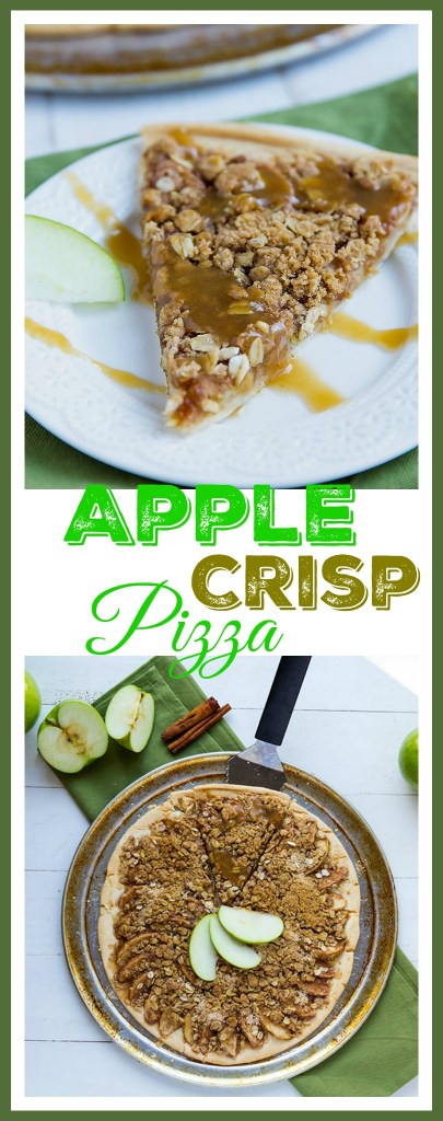 Apple Crisp Pizza - Delicious apples with a crispy oat topping made into pizza. // gatherforbread.com