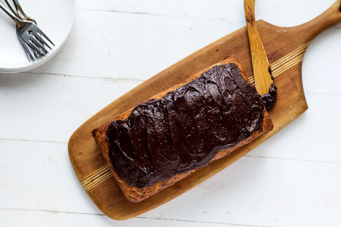 Banana Bread with Chocolate Glaze