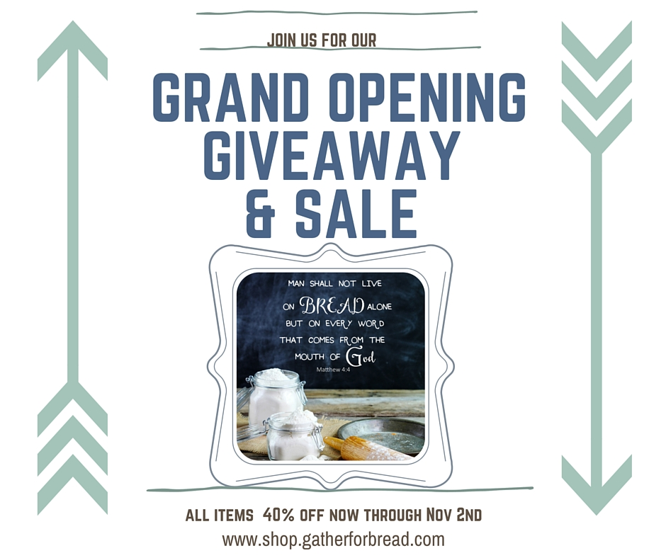 Grand Opening Giveaway and Sale