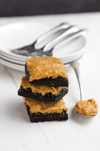 Simple Peanut Butter Frosted Brownies // Gather for Bread