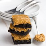 Simple Peanut Butter Frosted Brownies