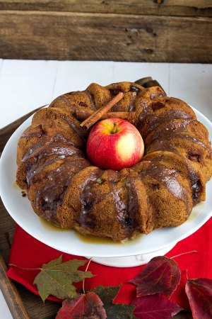 Apple Rum Dum Cake // gatherforbread.com