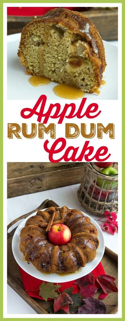Apple Rum Dum Cake Moist apple cake made with a sweet rum glaze! // gatherforbread.com