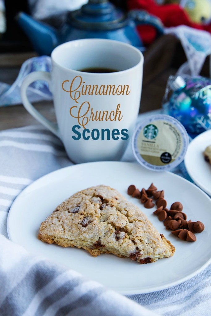 Soft buttery scones made with cinnamon chips and real cinnamon and topped with a light sugar coating. // @gatherforbread