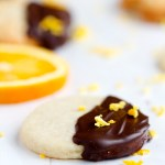 Chocolate Dipped Orange Sugar Cookies