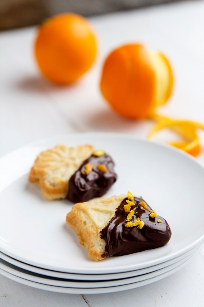 Chocolate Dipped Orange Sugar Cookies | Gather for Bread