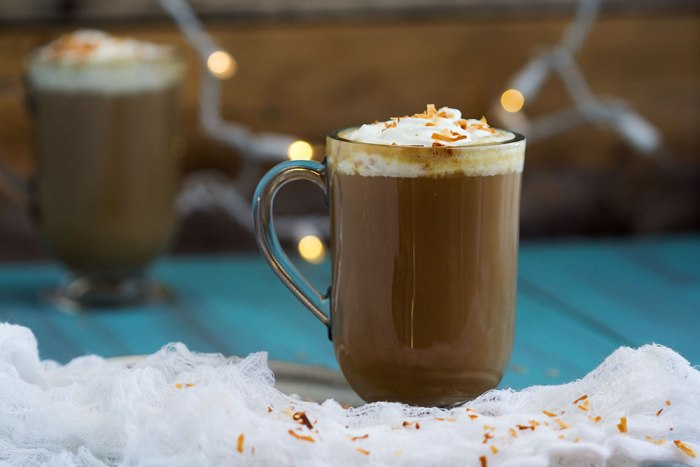 Coconut Nog Latte - Delicious coconut milk dairy free latte. // gatherforbread.com