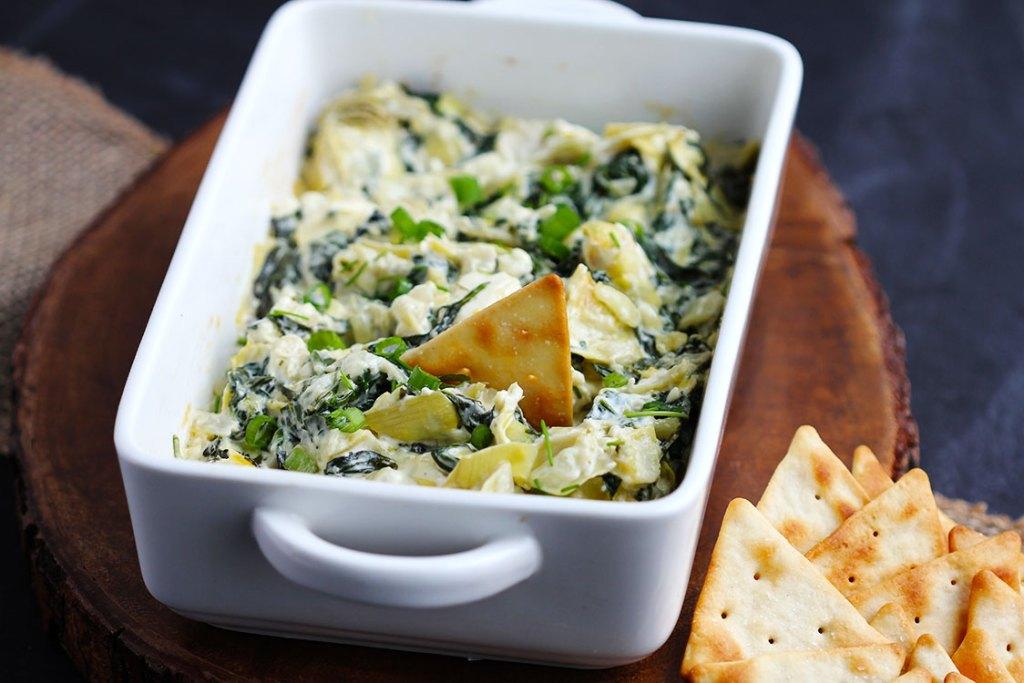 Creamy Parmesan Spinach Artichoke Dip | Gather for Bread