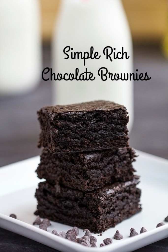 Simple Rich Chocolate Brownies | gatherforbread.com