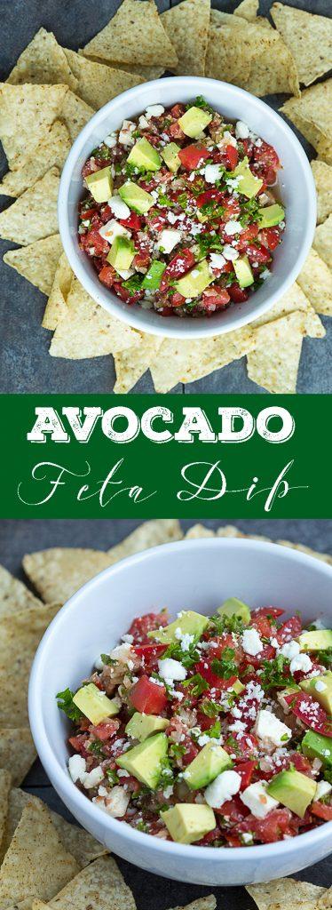 Avocado Feta Dip - Delicious dip, perfect for every party!   gatherforbread.com
