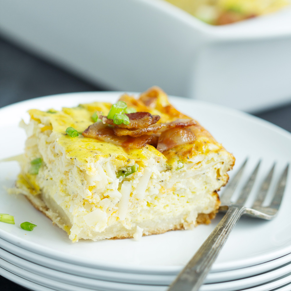 Hams Egg Cheesy Bread Roll: Bacon Egg Hashbrown Biscuit Bake