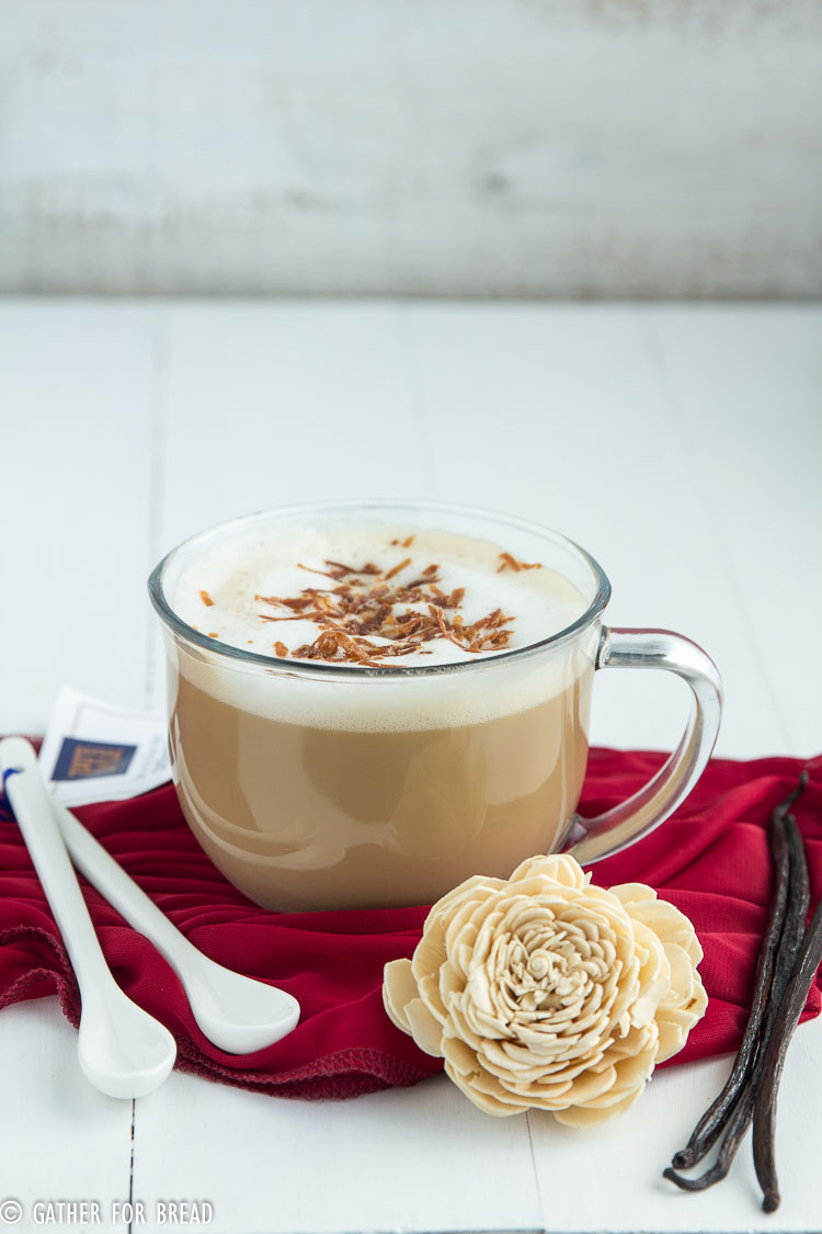Vanilla Coconut Latte | gatherforbread.com