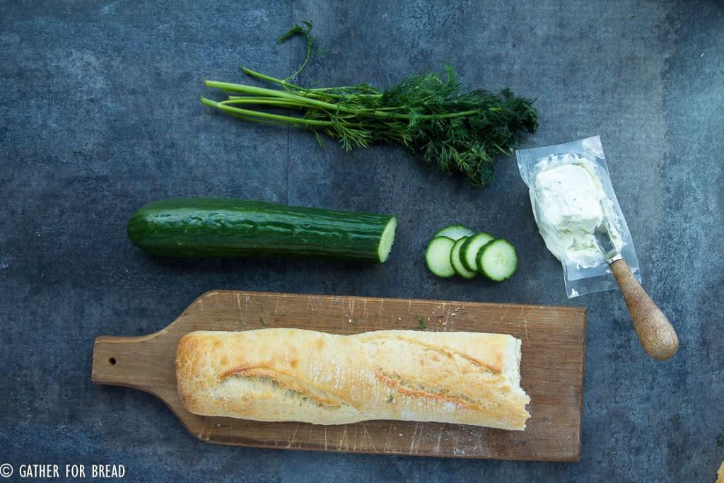 Cucumber Goat Cheese Sandwich Bites-